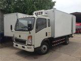 Sinotruk HOWO Light Truck 4X2 Frigorífico caminhões de unidades