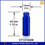 1 DRAM Frasco de vidro azul cobalto com conta-gotas