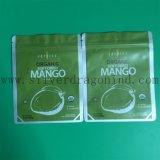 Sac de cosmétiques en plastique vert avec fermeture à glissière