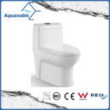Una pieza redonda tazón Dual Flush delantero wc en blanco (Ley Nº7805)