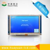Module de TFT LCD de 5 pouces avec l'écran tactile résistif