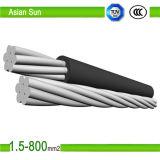 Duplex 1/0 2/0 4/0 cable aislado XLPE del ABC