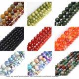 Indian Jasper Agate perles de jade de quartz naturel pour les bracelets de pierres précieuses