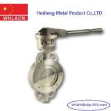 Válvulas de mariposa hidráulicas neumáticas del bastidor de inversión del acero inoxidable