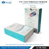 スマートな15Wは無線充満パッドかマットQC 2.0/3.0をサポートする広い充満領域のiPhoneまたはSamsung/LG/Huawei /Xiaomiのためのチーの無線充電器の絶食する