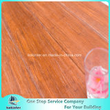 El precio más barato cepillado hilo de bambú tejido de pisos interiores en color roble rojo con alta calidad