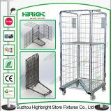 Contenitore della gabbia del rullo di immagazzinaggio del magazzino