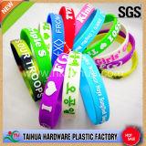 Promotion Gift Bracelet en silicone de 1 pouce avec rempli de couleur (TH-6860)