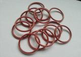 Joint torique en silicone Encap en téflon, PTFE ENCAP, joint torique en silicone transparent en téflon et en caoutchouc de silicone rouge foncé