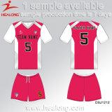 Healongによっては販売のためのデジタル印刷の衣類の学校の女の子のフットボールのユニフォームが現れる