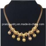 La moda de verano de aleación de zinc joyas chapado en oro amarillo de Materila con colgante de cordón llevar cadenas libres de cromo níquel ajustable (PN-075)