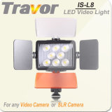 Es-L8 para cámaras y videocámaras de vídeo LED de luz Light Studio