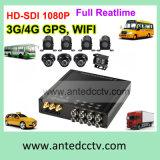 Antivibraciones en cámara del CCTV del coche y registrador de DVR con GPS 3G de seguimiento 4G WiFi HD 1080P