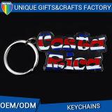 Vente en gros promotionnelle de cadeau en métal de mode d'indicateur de trousseau de clés fait sur commande de boucle principale