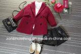 Mantel-Kind-Kleidung der Revers verdickten Mädchen Woolen
