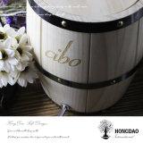 Hongdao 최신 판매 주문 싼 자연적인 색깔 Devorative 나무로 되는 커피 배럴 _E