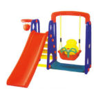 Kids Plastic Slide with Swing Combination Playground (M11-09407)