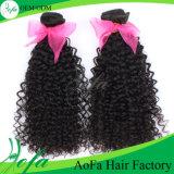 Человеческие волосы волос 7A Remy конкурентоспособной цены бразильские курчавые