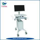인쇄 기계 쟁반을%s 가진 이동할 수 있는 병원 공급 워크 스테이션 손수레