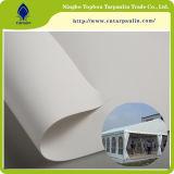 Recubierto de PVC lona blanca rollos de tejido de carpas de lona del toldo de lona Precio