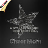 Cheer Mom Star Bling Hotfix Strass de transferts de chaleur
