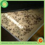 Farbe 201 304 316, die dekorative Edelstahl-Wand für Dekor der Wand-3D ätzt