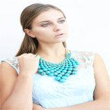 De nieuwe Armband van de Oorring van de Halsband van de Juwelen van de Manier van de Parels van het Ontwerp Rode Acryl
