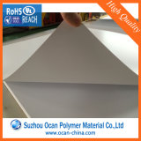 folhas rígidas do PVC do resíduo metálico branco da espessura de 0.75mm para o vácuo que dá forma ao painel de parede 3D