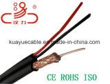 電源コード+CoaxialケーブルRg59/Computerケーブルのデータケーブルコミュニケーションケーブルコネクタの音声ケーブル