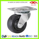 65mm harter Gummi-Schwenker-Platten-Fußrollen-Rad (P108-53B065X24)