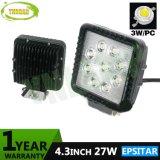 4.3inch 27W IP67 fora da luz de trabalho do trabalho da lâmpada do diodo emissor de luz da estrada