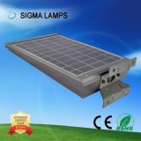 Sigma Smart Fácil instalação em um único sistema integrado de energia solar PIR cobrado 20W 30W IP65 candeeiros de rua Jardim das lâmpadas de luz de LED