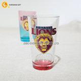 beschriftet transparentes Metall der Löwe-16oz Glaswaren für Geschenk