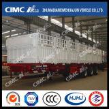 Cimc White Painting를 가진 Huajun 3axle Gooseneck Stake 또는 Cargo Semi Trailer
