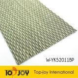 Piso tejida con hilos de vinilo de alambre plano