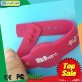 Wristband del silicone RFID del sistema MIFARE DESFire EV1 di lealtà per ginnastica
