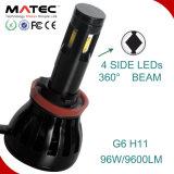 H7 LED 모든 차 H11 9004 9007를 위한 자동 헤드라이트 보충