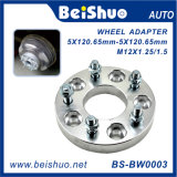 Adaptador de aluminio forjado y de plata de la rueda