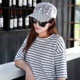 Do engranzamento branco do laço da venda por atacado do bordado da alta qualidade chapéus feitos sob encomenda do camionista para mulheres