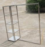 BDR-007 4 Tier Glass Cube With Hang Rail