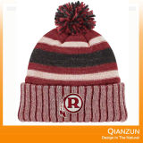 冬のアクリルの刺繍のロゴによって編まれる帽子