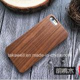 RosewoodがかタケまたはクルミまたはTeakwoodなすゴムPC+Woodの版のiPhone 7/6/5sの木製の携帯電話の箱