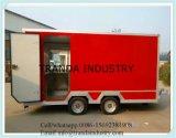 Solo acoplado de la caravana de Shawarma del acoplado del alimento de la puerta hecho en China