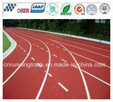 Umweltfreundlicher Fachmann PU-athletische laufende Gummispur mit Iaaf Bescheinigung