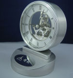 Personalizzare il ricordo stabilito e gli omaggi di figura del metallo della Tabella dell'orologio K8043 dell'orologio del regalo di scheletro creativo del kit