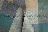 Os fios Tingidos Poli/tecido de Rayon, Plaid, sarjado, 220gsm