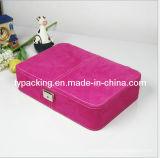 バレンタインのローズ色の美ポリ塩化ビニールの化粧品箱(J-0054)