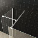 容易できれいなクロムフレームの浴室のガラスシャワー・カーテンの側面パネル