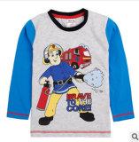 La nouvelle de l'automne 2014 Pure le garçon simple d'origine des pompiers T-Shirt à manches longues