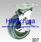 Industrielle Schwenker-Bremsen-Platten-Oberseite-Hochleistungsfußrolle